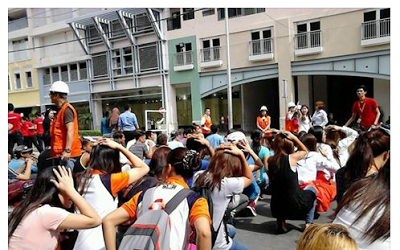 ABEnians participate in the nationwide #MMShakeDrill